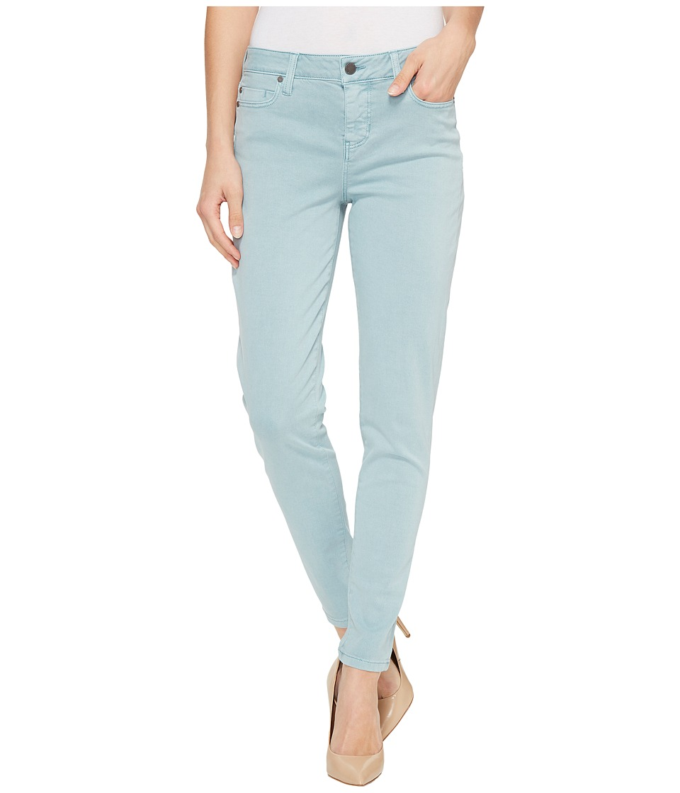 Liverpool - Devon Relaxed Ankle Skinny in Stretch Peached Twill in Slate Blue (Slate Blue) Women's Jeans