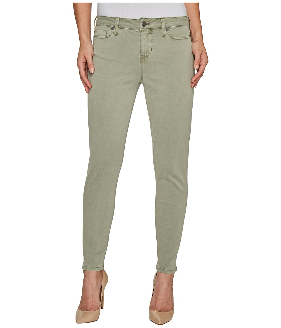 Liverpool - Devon Relaxed Ankle Skinny in Stretch Peached Twill in Shadow Green (Shadow Green) Women's Jeans