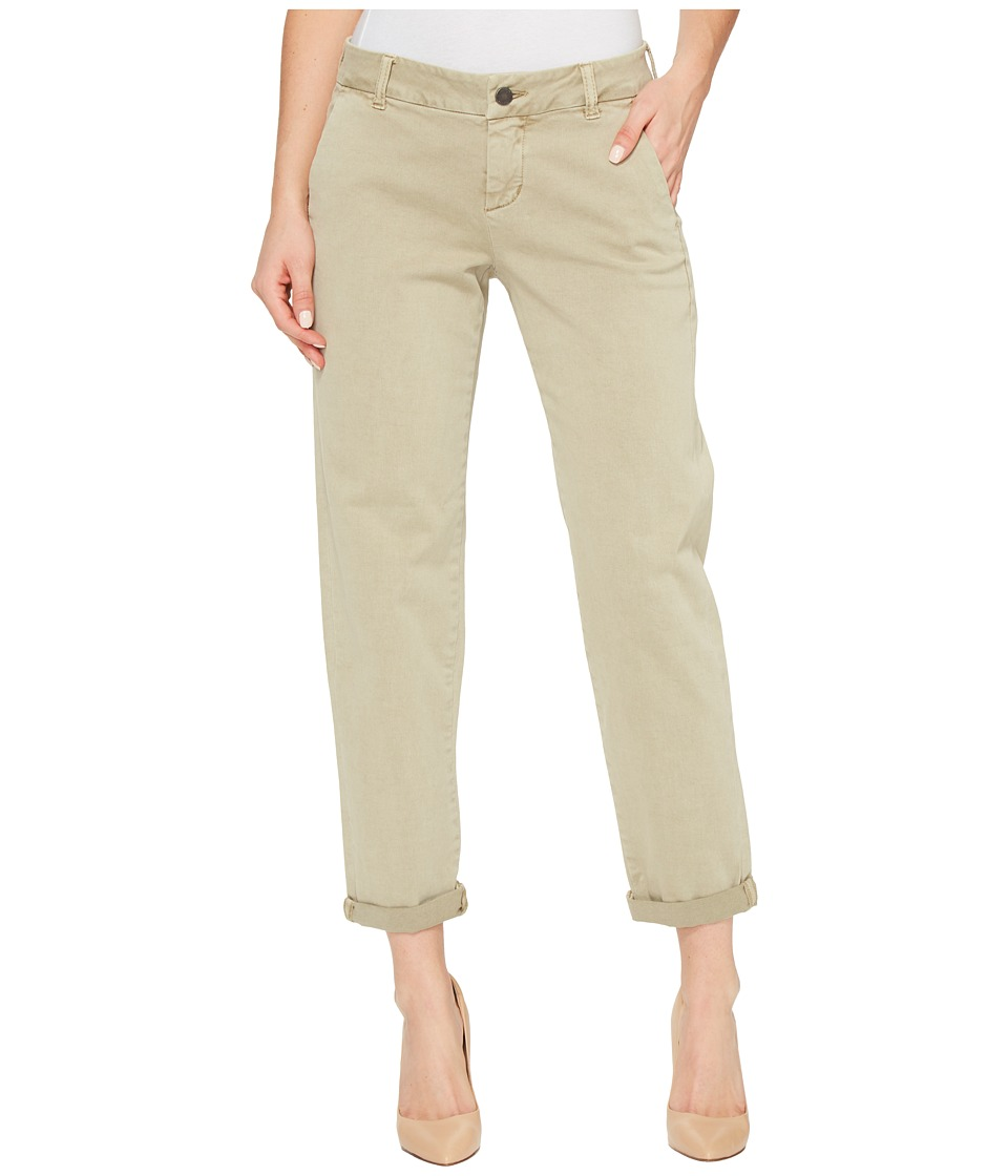 Liverpool - Billy Trousers Rolled-Cuff in Stretch Peached Twill in Pure Cashmere (Pure Cashmere) Women's Jeans