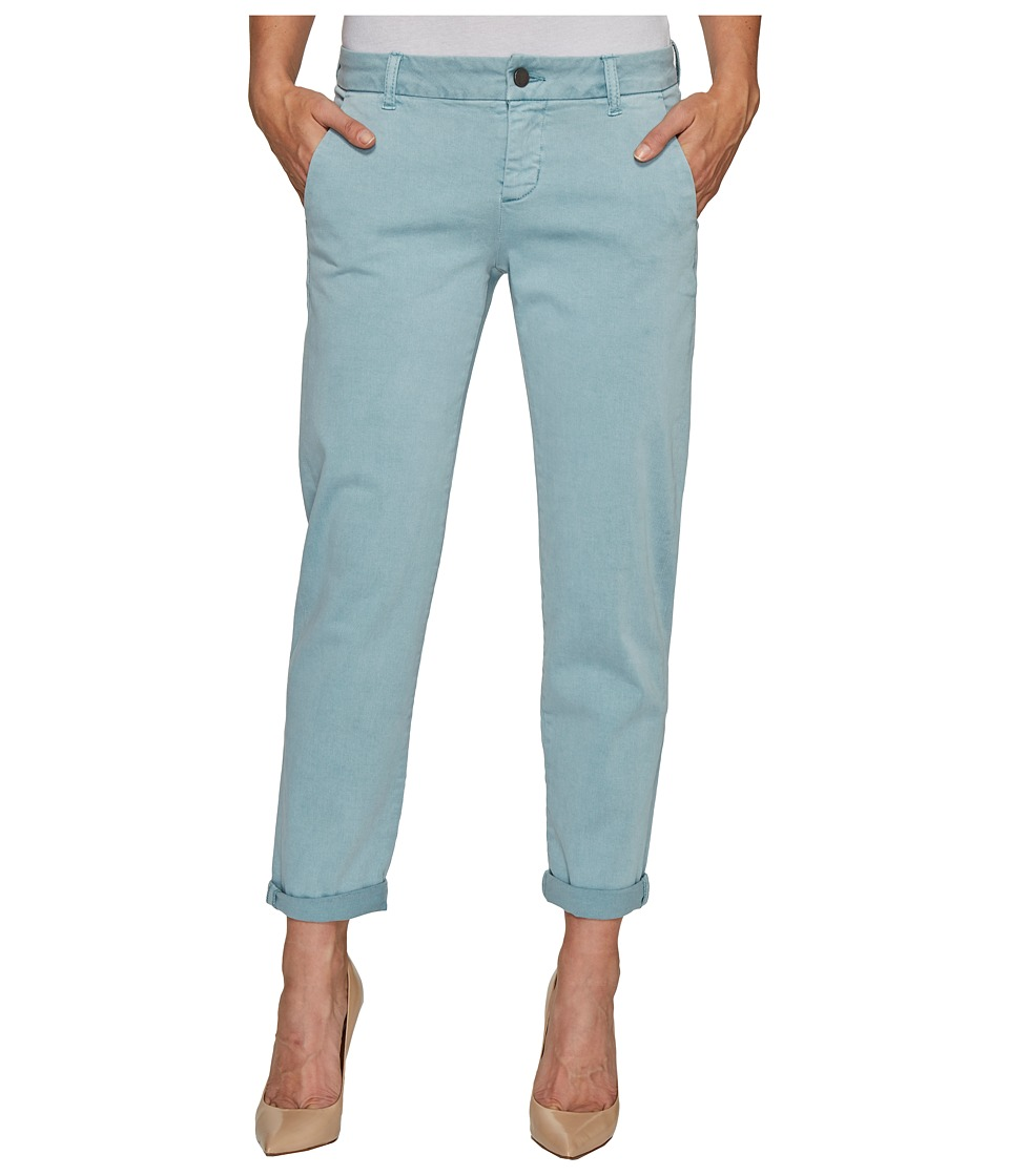 Liverpool - Billy Trousers Rolled-Cuff in Stretch Peached Twill in Slate Blue (Slate Blue) Women's Jeans