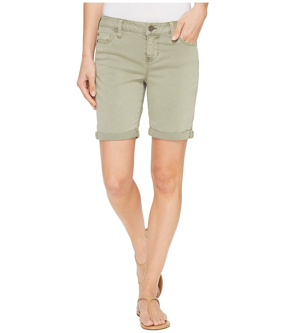 Liverpool - Corine Walking Shorts Rolled-Cuff in Stretch Peached Twill in Shadow Green (Shadow Green) Women's Shorts