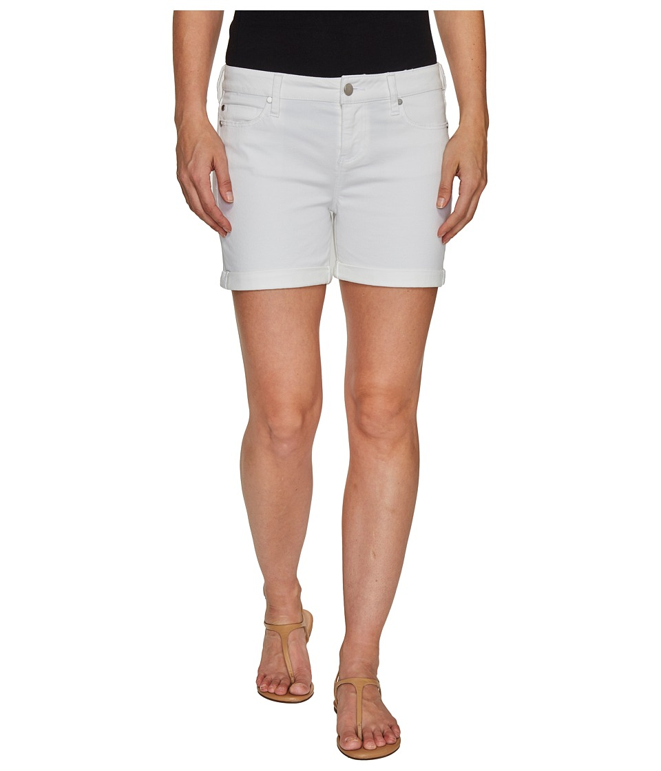 Liverpool - Vickie Shorts Rolled-Cuff in Stretch Peached Twill in Bright White (Bright White) Women's Shorts