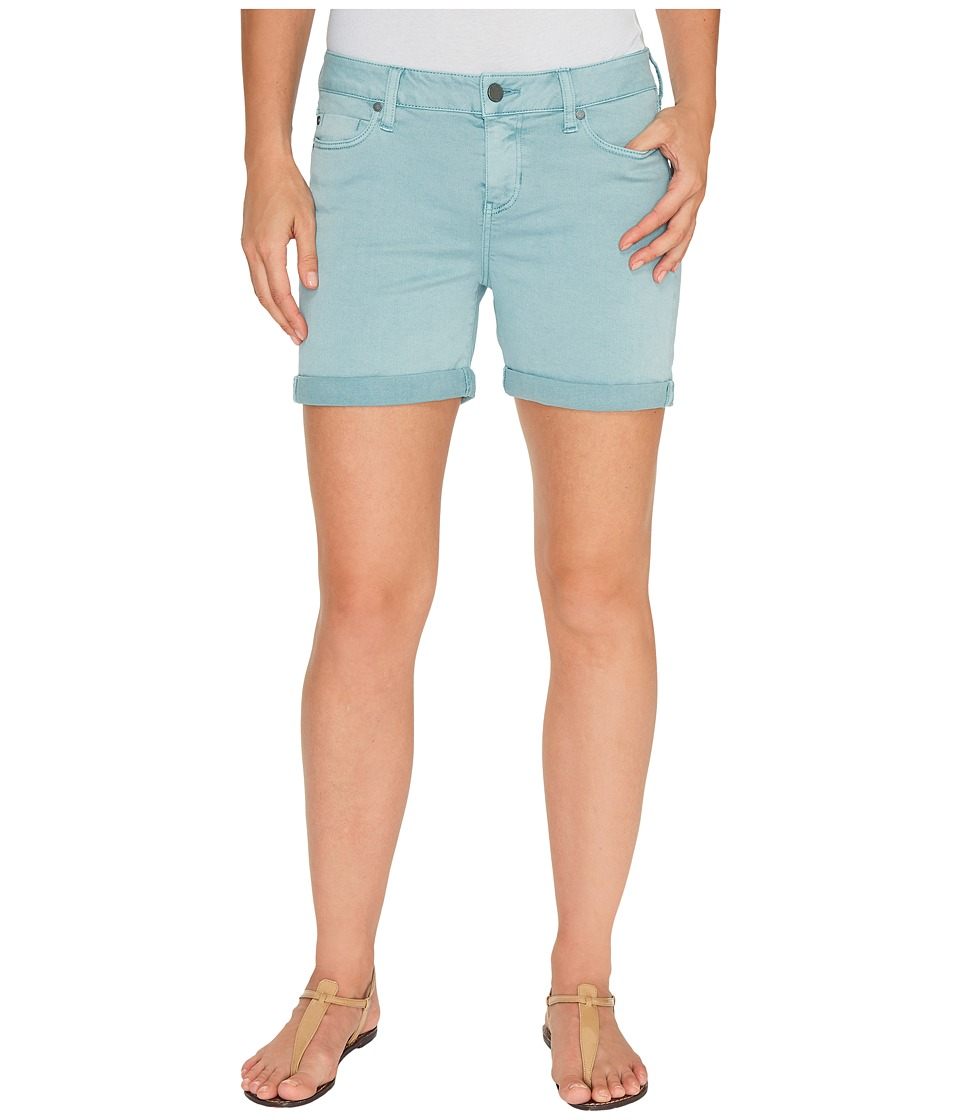 Liverpool - Vickie Shorts Rolled-Cuff in Stretch Peached Twill in Slate Blue (Slate Blue) Women's Shorts