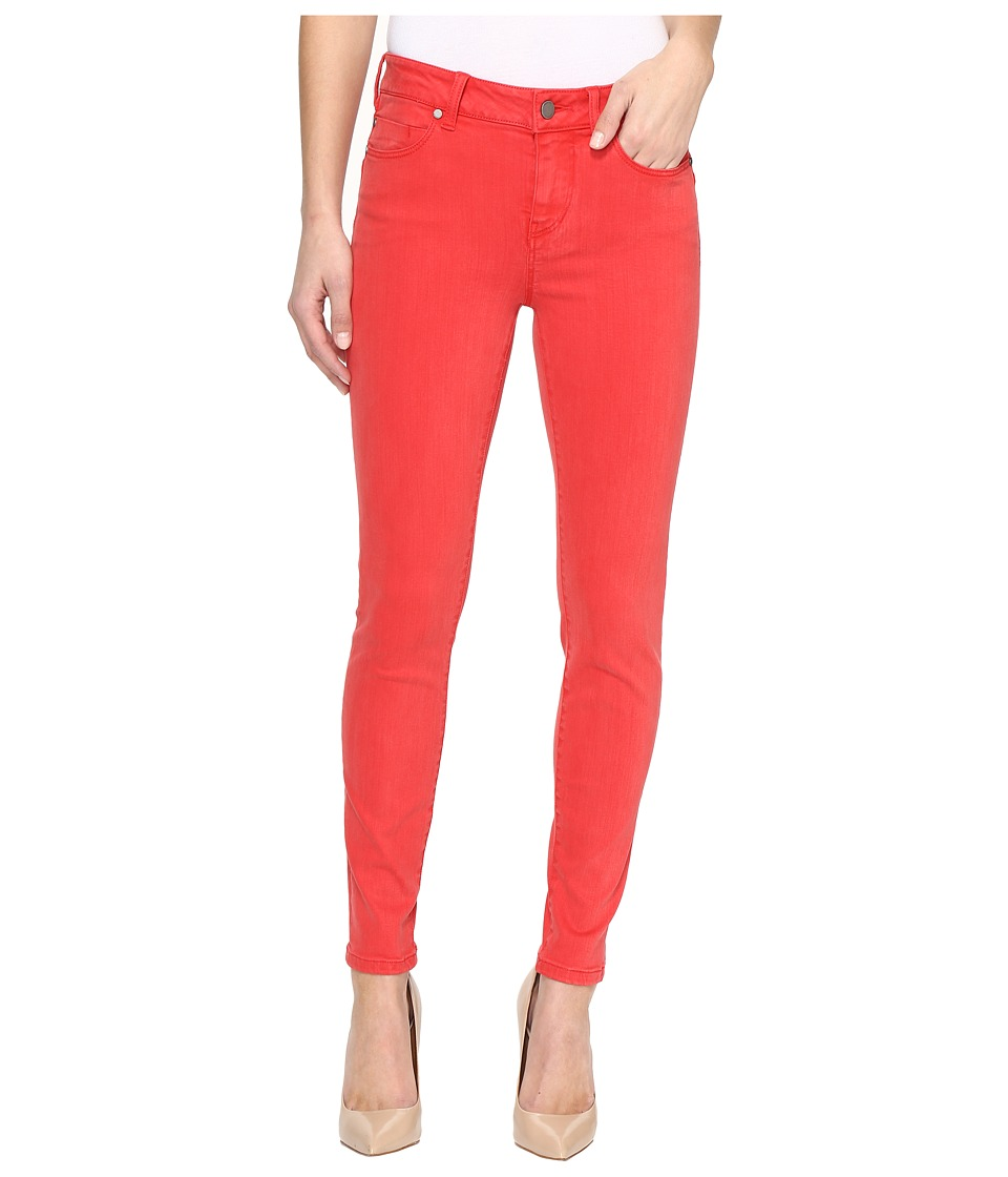 Liverpool - Piper Hugger Ankle Skinny with Lift and Shape in Pigment Dyed Slub Stretch Twill in Ribbon Red (Ribbon Red) Women's Jeans