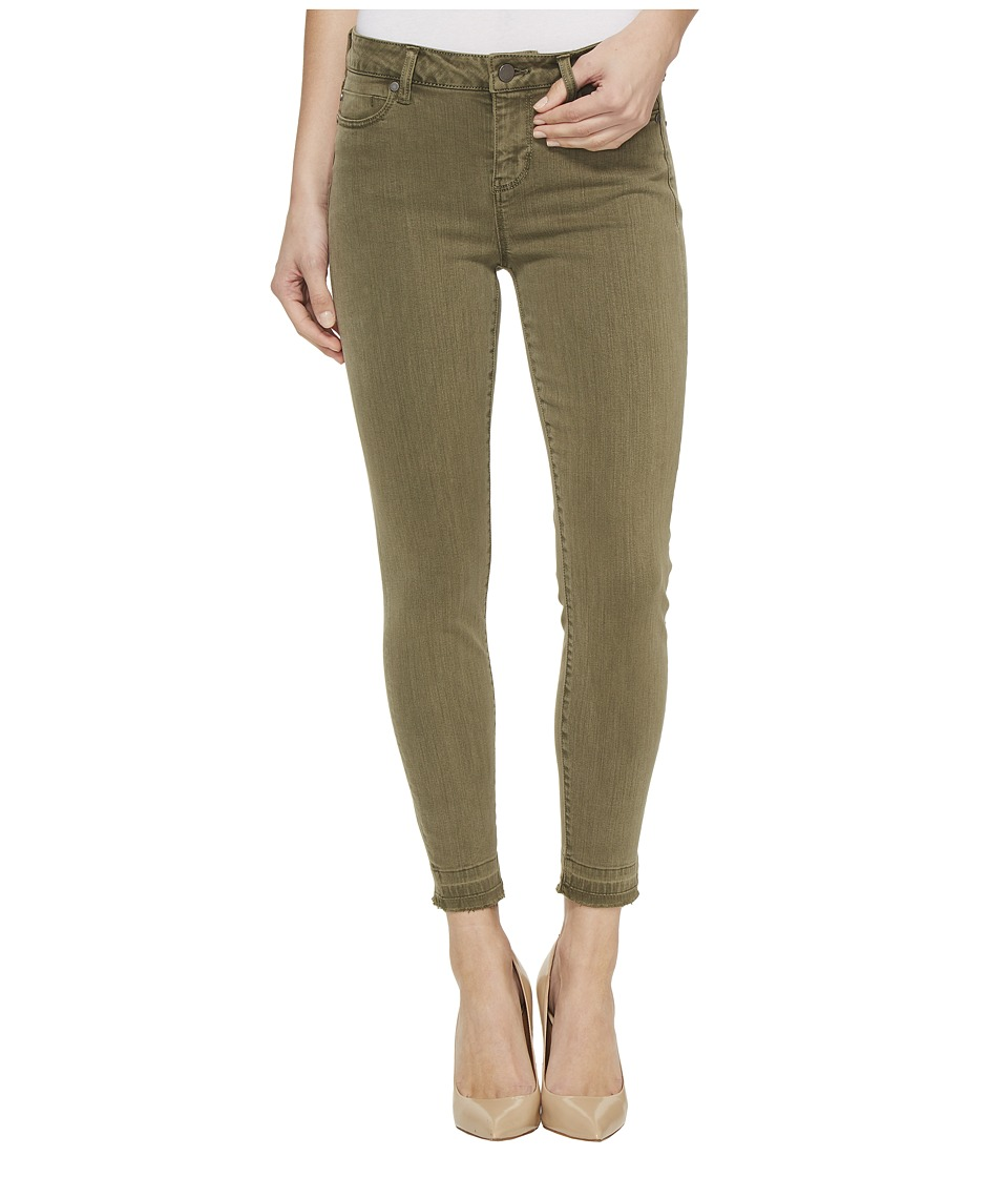 Liverpool - Avery Crop Released Hem in Pigment Dyed Slub Stretch Twill in Olive Night (Olive Night) Women's Jeans