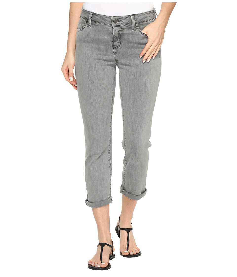 Liverpool - Michelle Rolled-Cuff Capris in Pigment Dyed Slub Stretch Twill in Sharkskin (Sharkskin) Women's Jeans