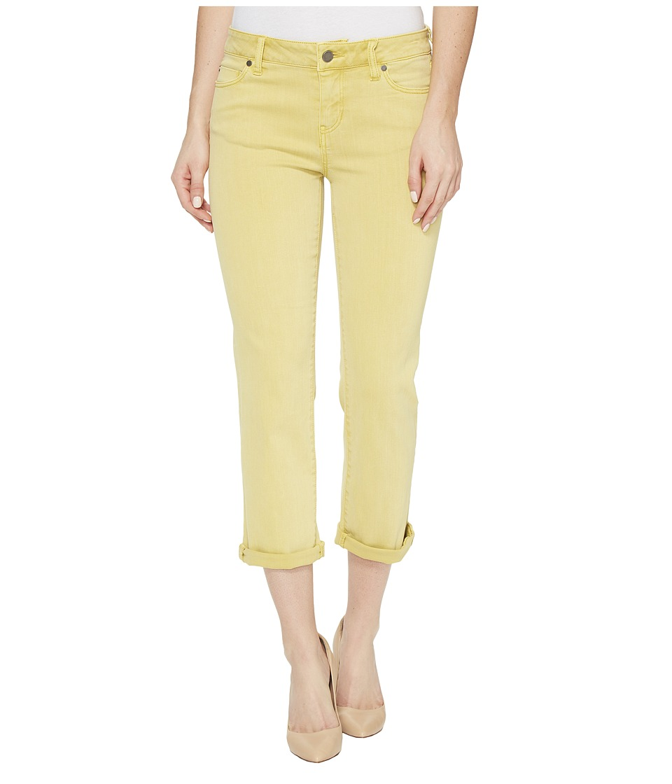 Liverpool Michelle Rolled-Cuff Capris in Pigment Dyed Slub Stretch Twill in Butterscotch (Butterscotch) Women