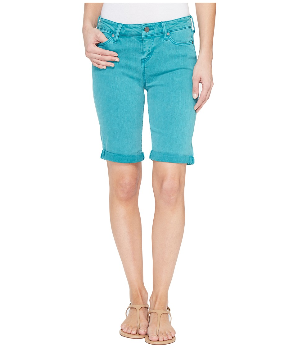 Liverpool - Hayden Rolled-Cuff Bermuda in Pigment Dyed Slub Stretch Twill in Fanfare Blue (Fanfare Blue) Women's Shorts