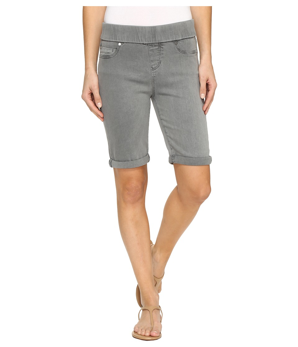 Liverpool - Sienna Pull-On Bermuda with Rolled-Cuff in Pigment Dyed Slub Stretch Twill in Sharkskin (Sharkskin) Women's Shorts