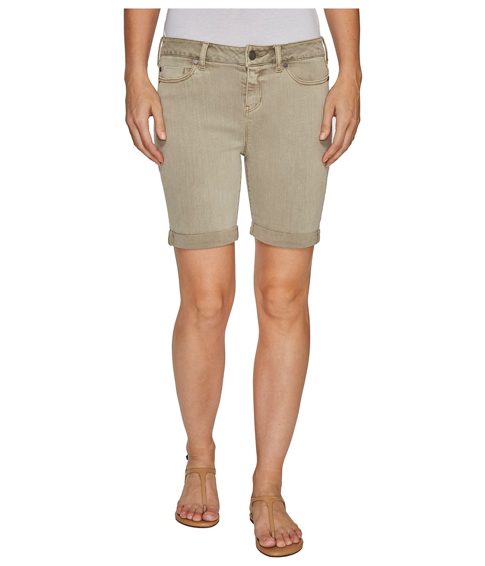 Liverpool - Corine Rolled-Cuff Walking Shorts in Pigment Dyed Stretch Slub Twill in Pure Cashmere (Pure Cashmere) Women's Shorts