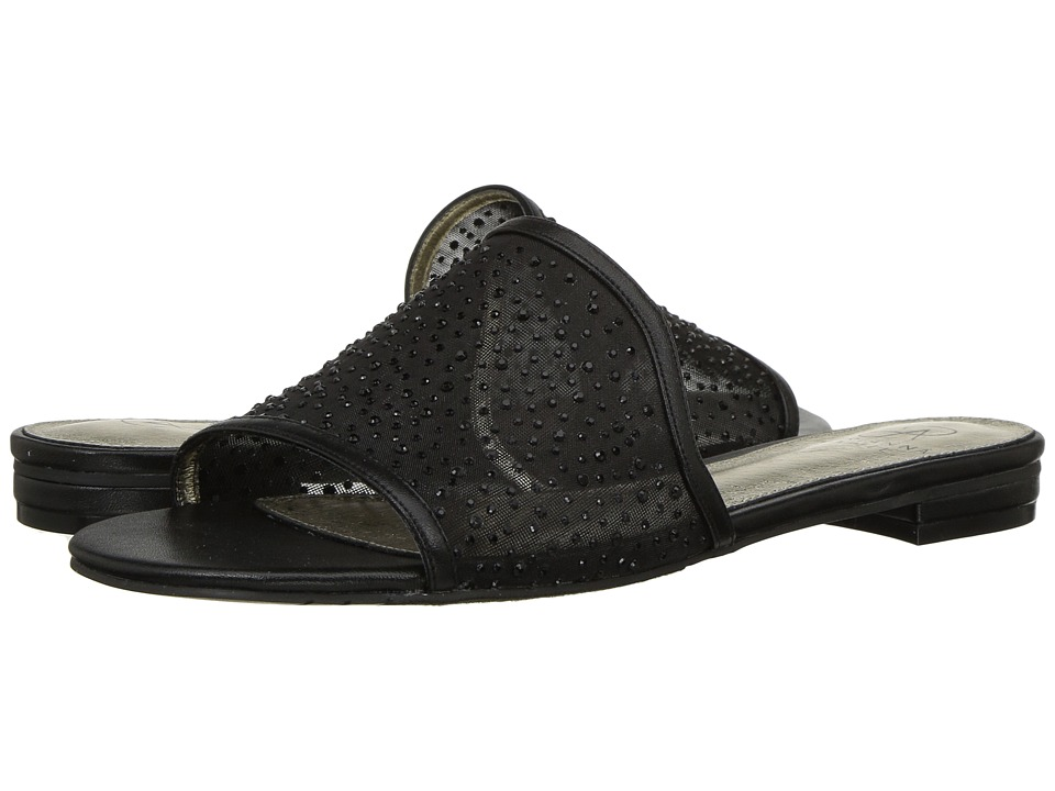 Adrianna Papell - Lisa (Black Stone Mesh) Women's Slide Shoes