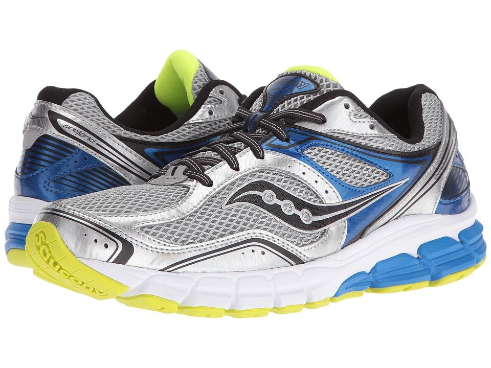 Saucony - Progrid Twister (Silver/Royal/Citron) Men's Shoes