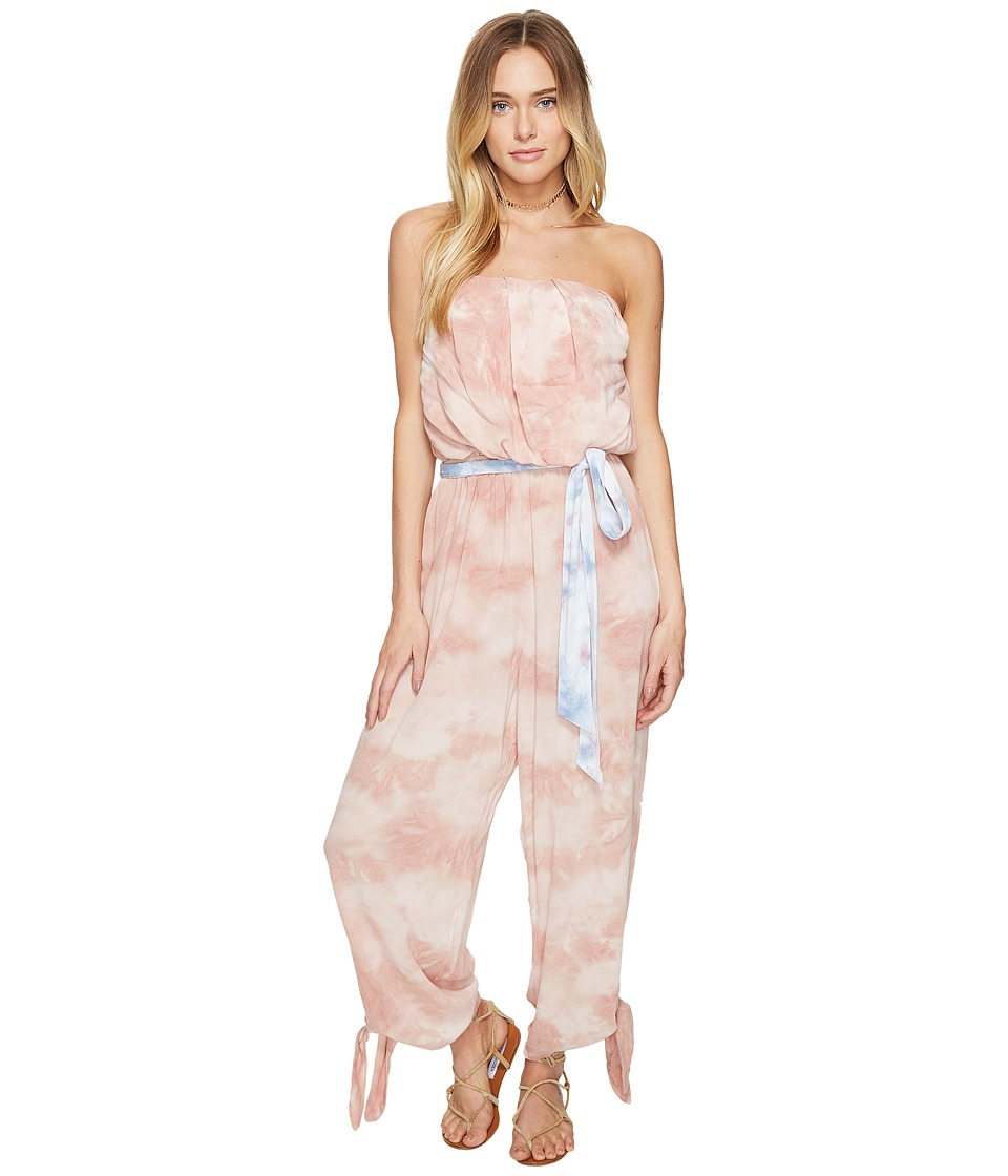 Free People - Just Float One-Piece (Peach) Women's Jumpsuit & Rompers One Piece