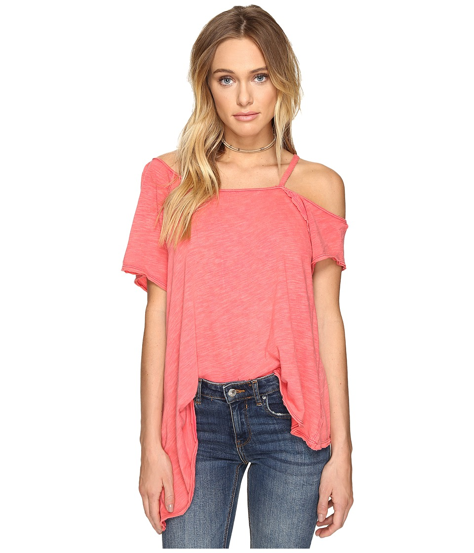 Free People - Coraline Tee (Red) Women's T Shirt