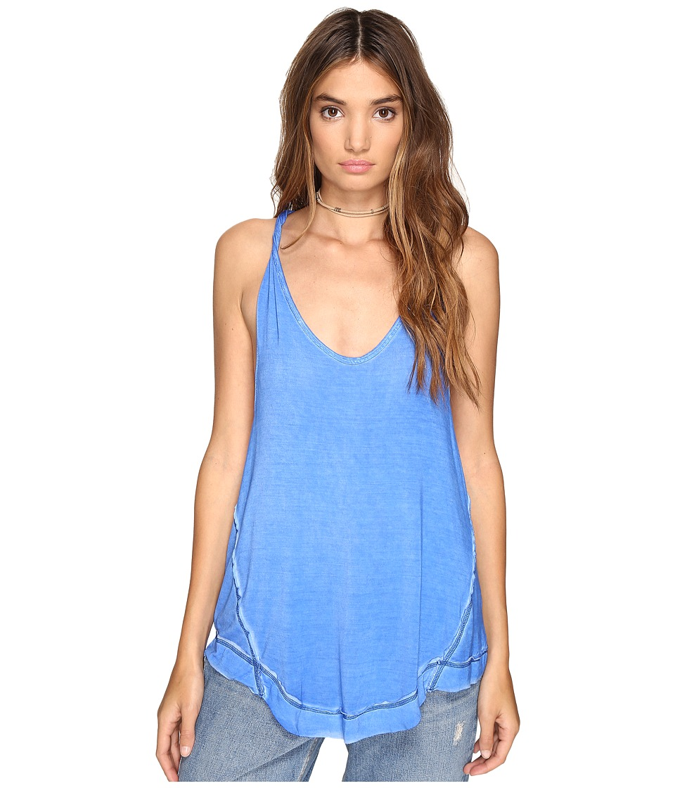 Free People - Nectarine Tank Top (Blue) Women's Sleeveless