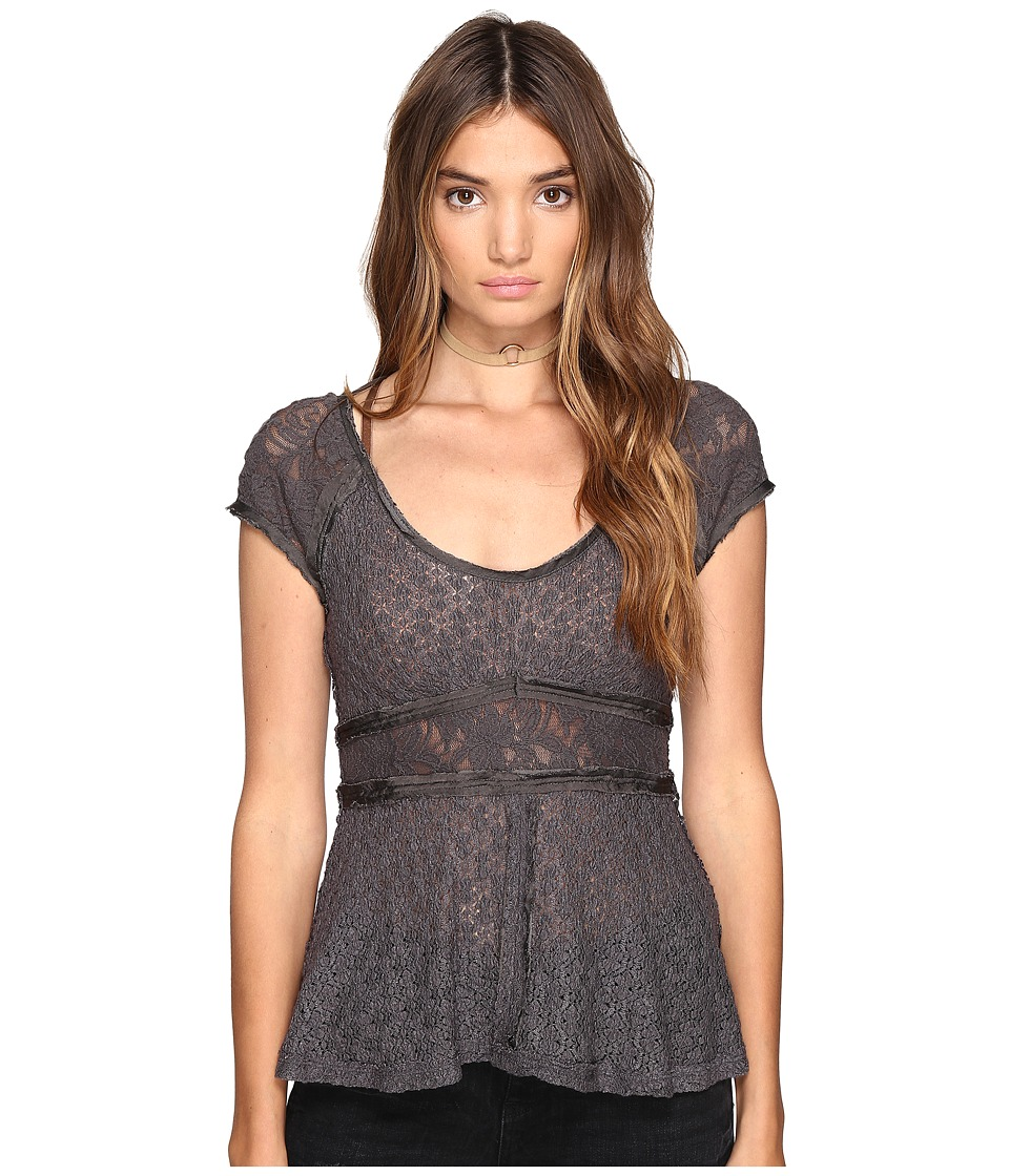Free People - Besties Tee (Black) Women's Clothing