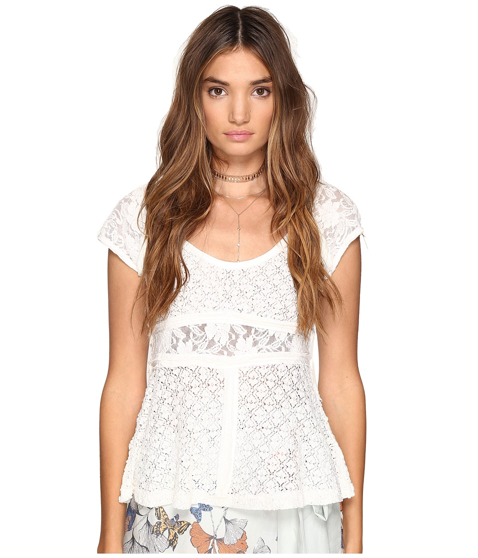 Free People - Besties Tee (Ivory) Women's Clothing