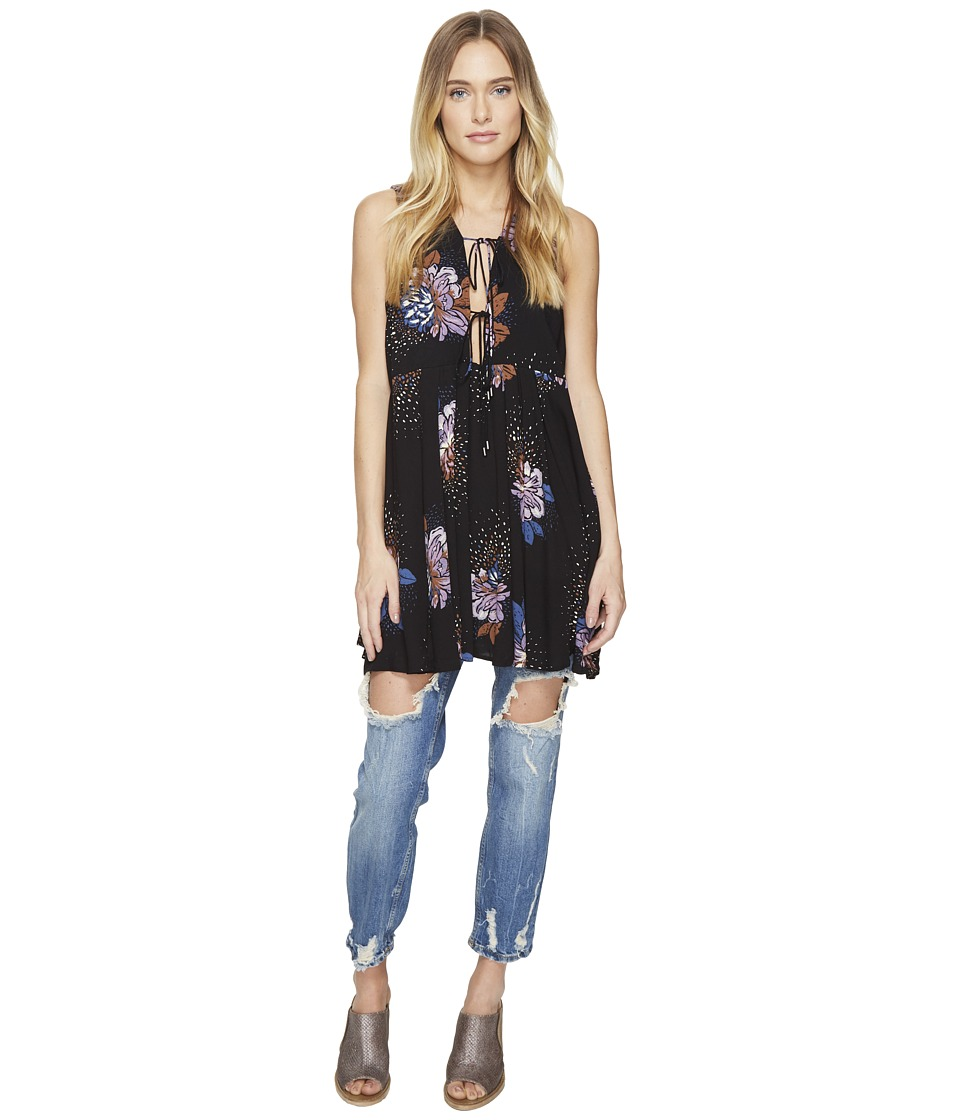 Free People - Lovely Day Printed Tee (Black) Women's Clothing