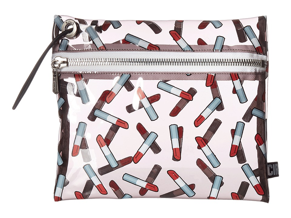 Circus by Sam Edelman - Miles Clear Bag (Lipstick Print/Clear) Clutch Handbags