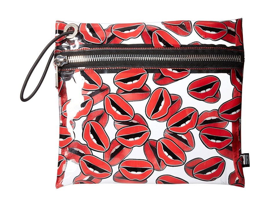 Circus by Sam Edelman - Miles Clear Bag (Lips Print/Clear) Clutch Handbags