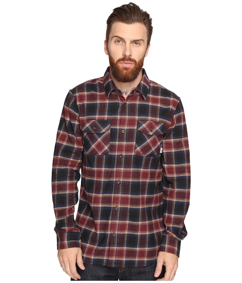 Vans - Banfield Flannel Shirt (Dress Blues/Port) Men's Long Sleeve Button Up
