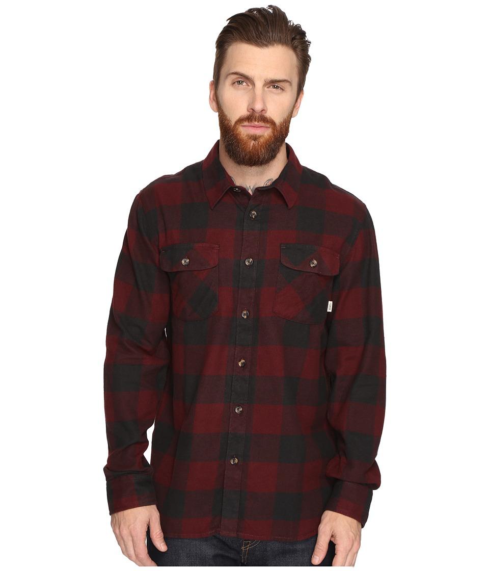 Vans - Hixon Light Flannel Shirt (Port Royale/Black) Men's Long Sleeve Button Up