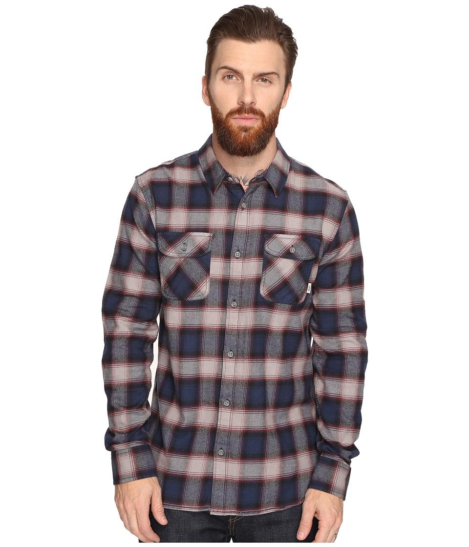 Vans Banfield Flannel Shirt (Dress Blues/Pewter) Men