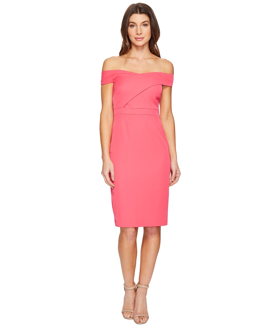 Laundry by Shelli Segal Off the Shoulder Cocktail Dress (Raspberry) Women