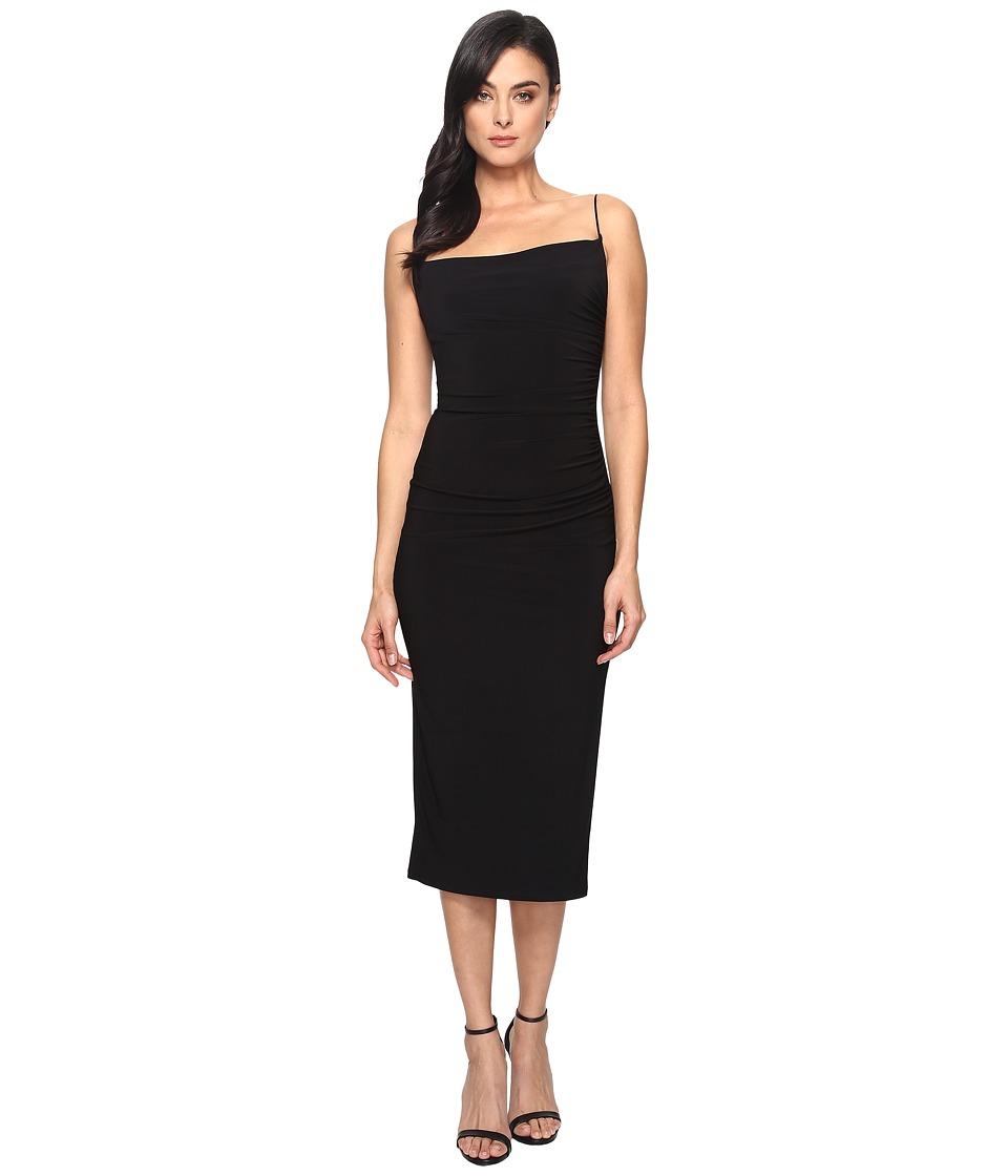 Laundry by Shelli Segal - Midi Spaghetti Strap Dress (Black) Women's Dress