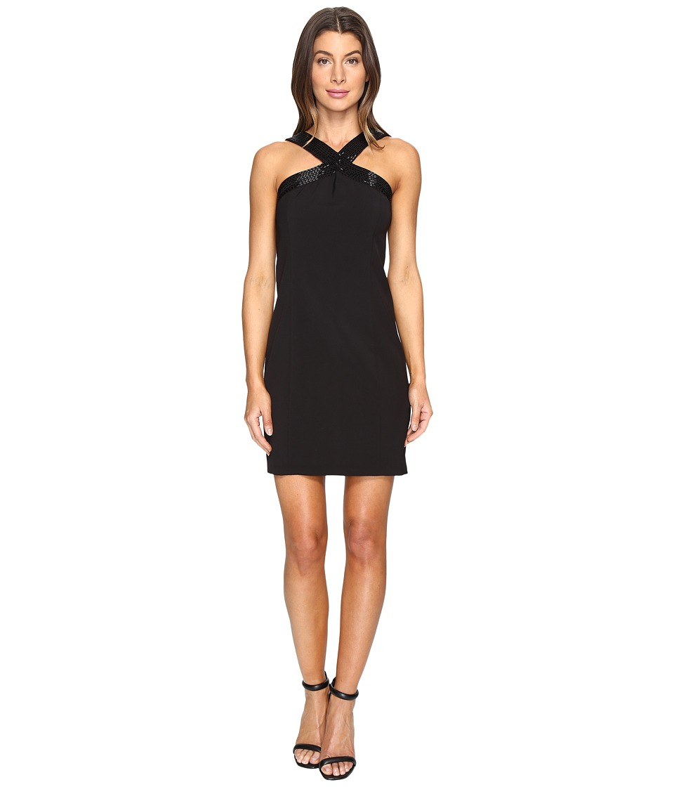 Laundry by Shelli Segal Cross Front Beaded Cocktail Dress