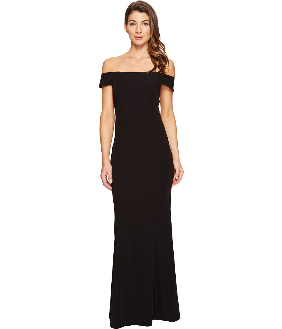 Laundry by Shelli Segal Off the Shoulder Gown (Black) Women
