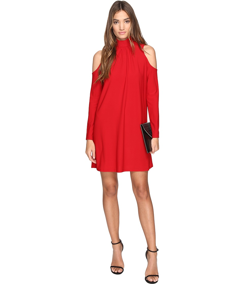 kensie - Slinky Knit Cold Shoulder Dress KS2K7728 (Red Lipstick) Women's Dress