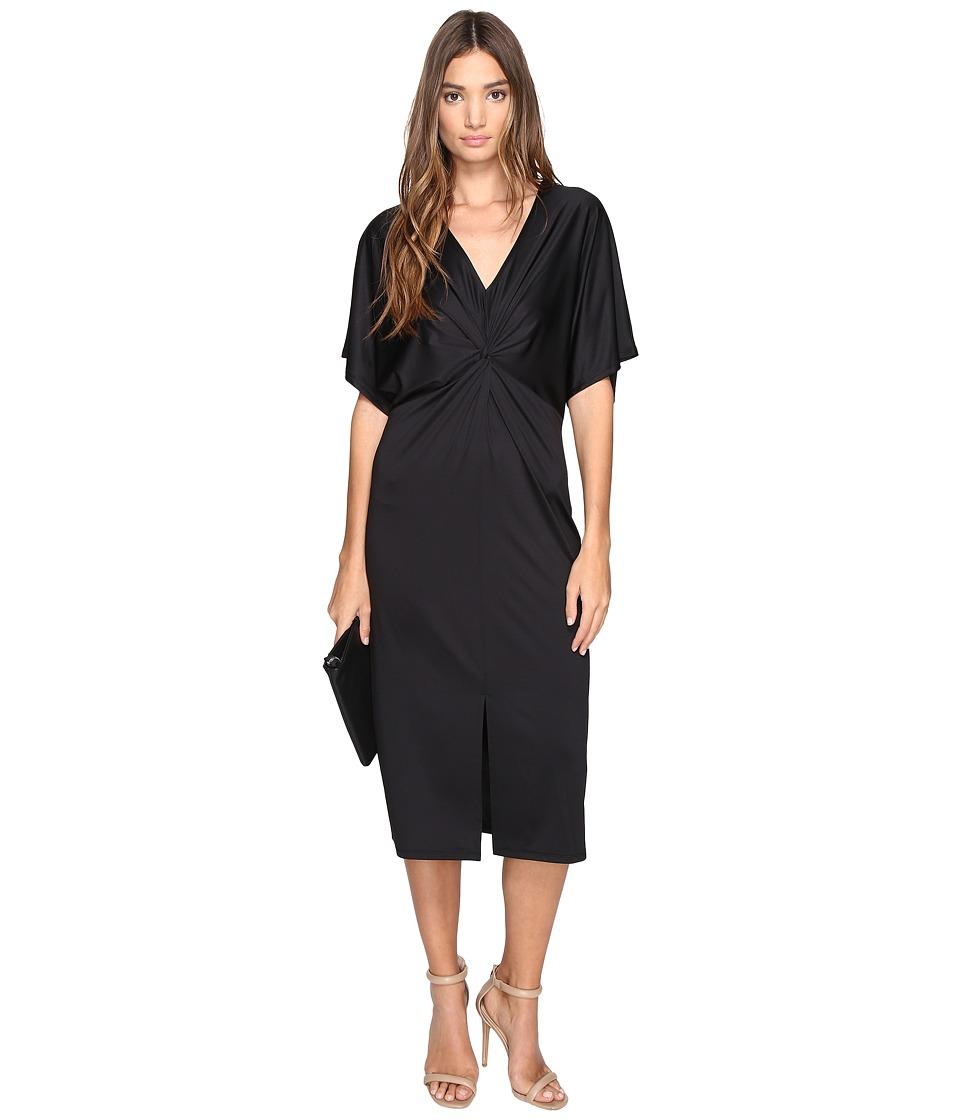kensie Lightweight Viscose Jersey Dress KS2U7003 (Black) Women