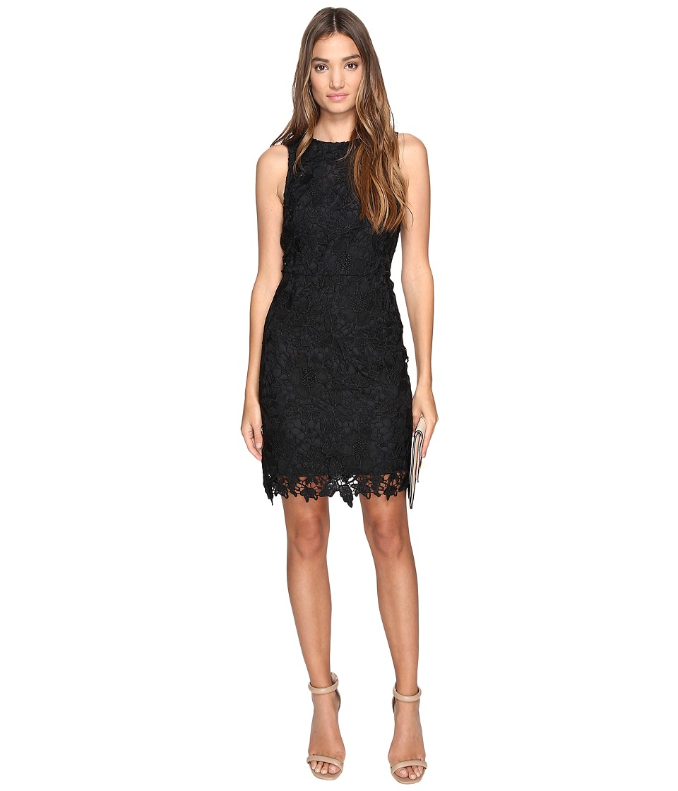kensie Bold Garden Lace Dress KS2K7528 (Black) Women
