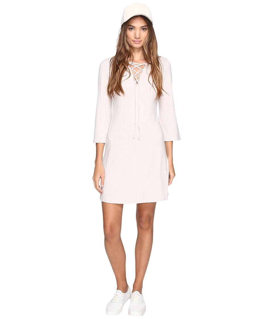 kensie - Rib Lace-Up Dress KS2U7007 (Warm Stone) Women's Dress