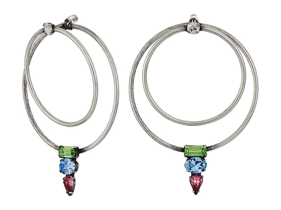 DANNIJO - MANYARA Earrings (Ox Silver/Multi) Earring