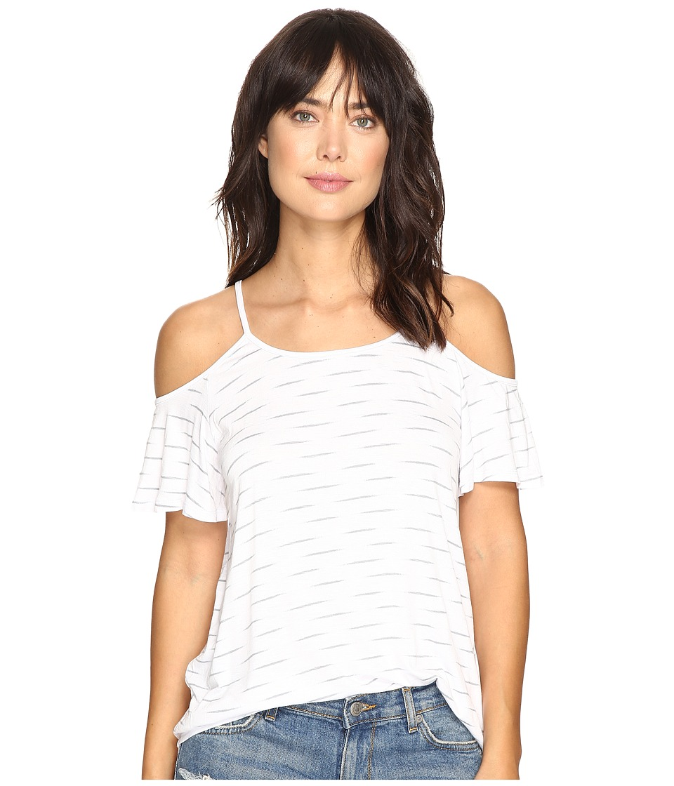 kensie - Sound Bite Top KS3K3581 (White Combo) Women's Clothing
