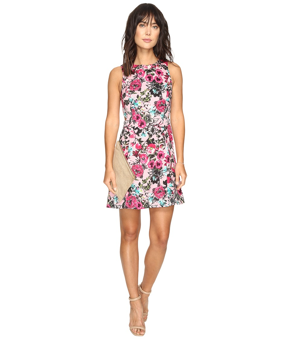 kensie Wild Garden Dress with Cut Out Side KS3K7740 (Bubblegum Combo) Women