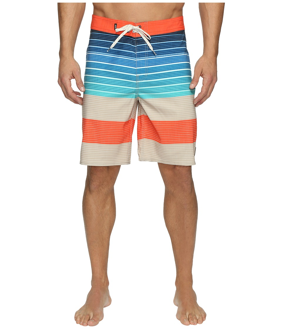 Vans - Era Stretch Boardshorts 20 (Khaki Compass Stripe) Men's Swimwear