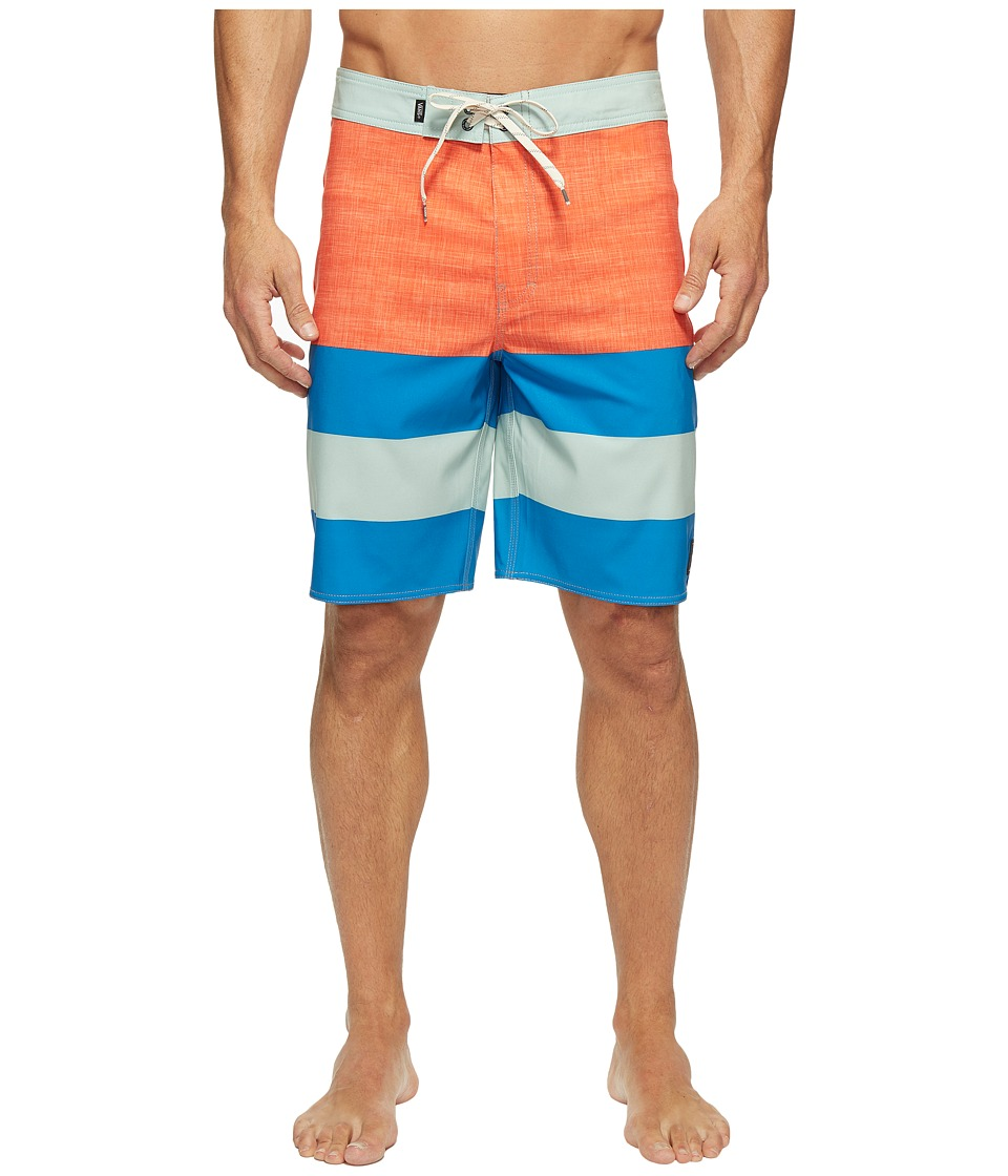 Vans - Era Stretch Boardshorts 20 (Cherry Tomato/Imperial Blue) Men's Swimwear
