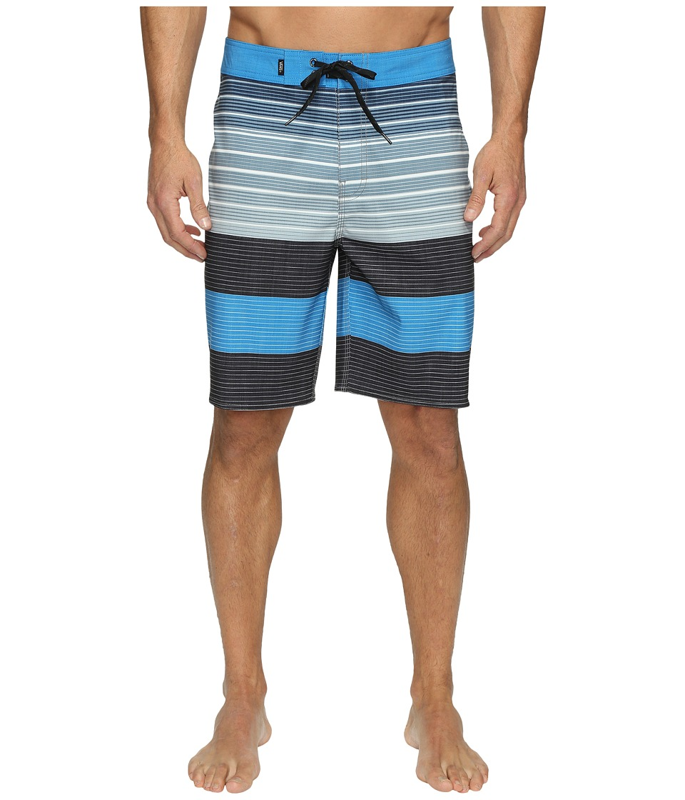 Vans - Era Stretch Boardshorts 20 (Black Compass Stripe) Men's Swimwear