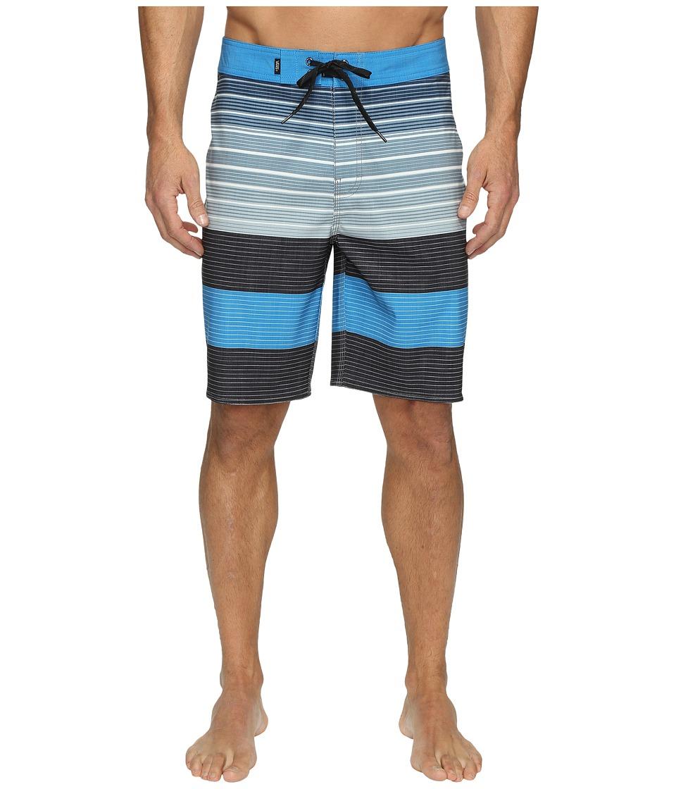 Vans - Era Stretch Boardshorts 20 (Black Compass Stripe) Men's Swimwear