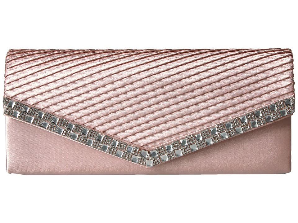 Jessica McClintock - Jacki Satin with Stones (Blush) Handbags