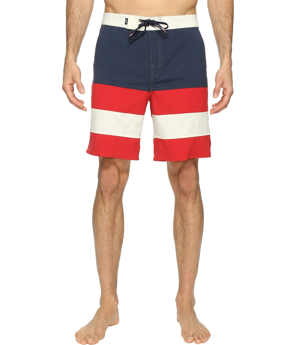 Vans Era Panel Boardshorts 19 (Dress Blues/Racing Red) Men