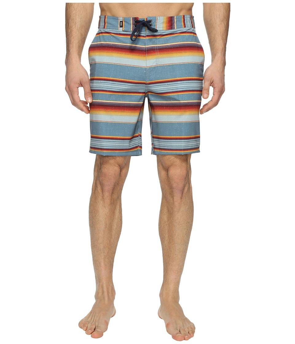 Vans - Rockaway Stretch Boardshorts 19 (Blue Mirage Rockaway Stripe) Men's Swimwear