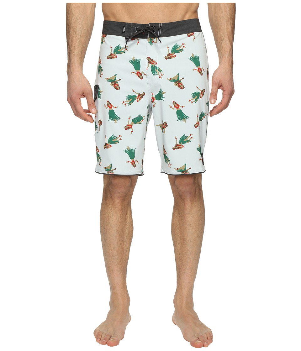Vans - Mixed Scallop Boardshorts (White Hula Daze) Men's Swimwear