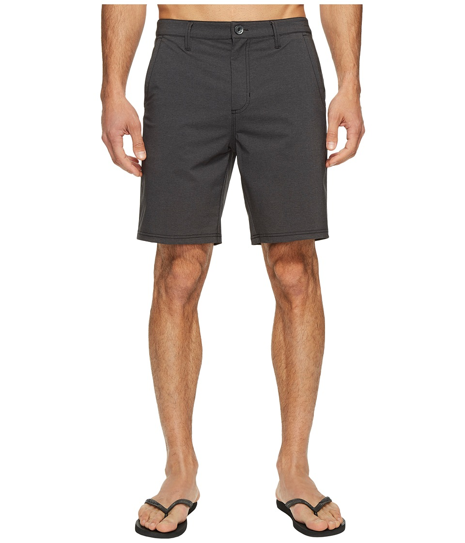 Vans - Authentic Heather Hybrid Shorts 19 (Black Heather) Men's Shorts