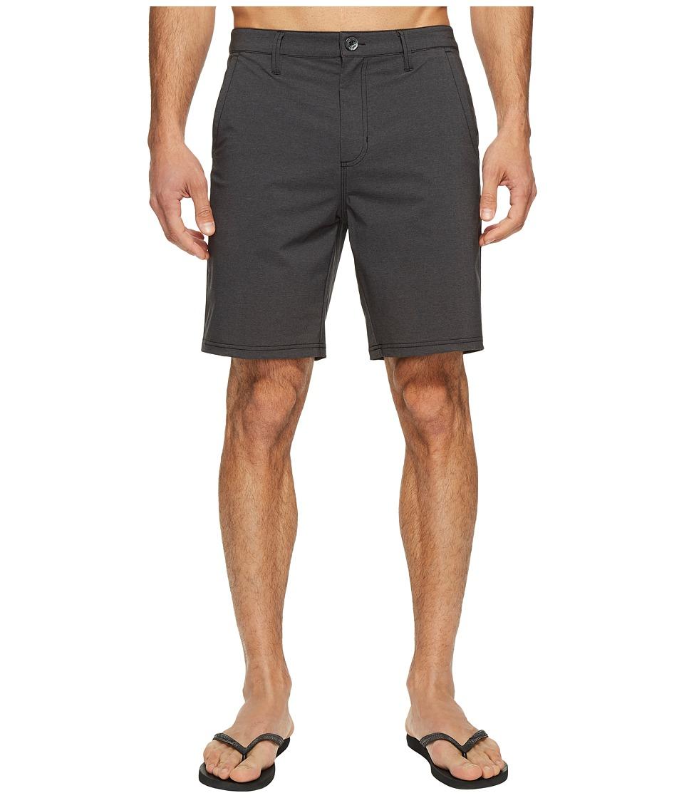 Vans - Authentic Heather Hybrid Shorts 19 (Black Heather) Men's Shorts