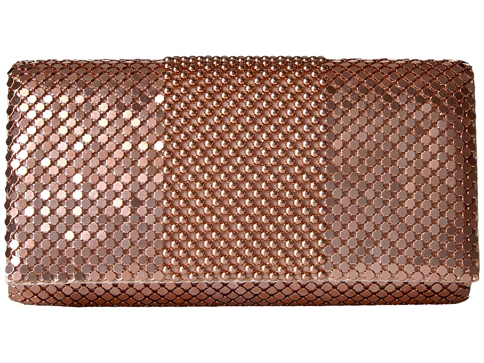 Jessica McClintock - Cassie Ball Mesh Flap (Blush) Handbags
