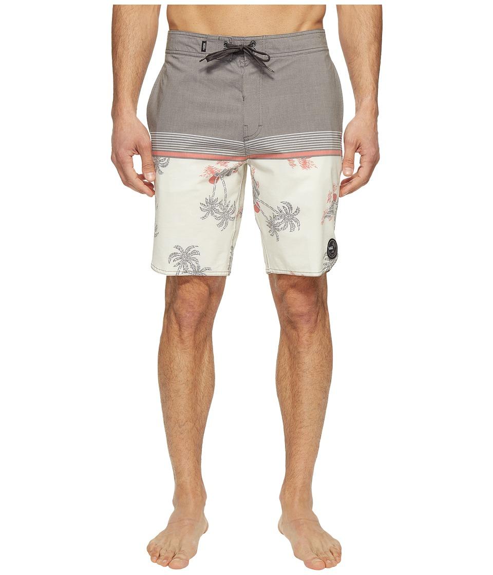 Vans - Two Harbors Boardshorts (Turtle Dove Havana Floral) Men's Swimwear